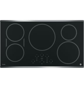 General Electric Appliances Profile™ 36 in. 5-Burner Ceramic Glass Built-In Touch Control Induction Cooktop in Stainless Steel GPHP9036SJSS
