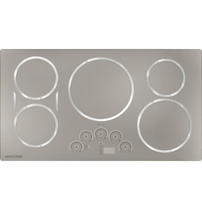 General Electric Appliances Monogram® 36 in. 5-Burner Induction Cooktop in Stainless Steel GZHU36RSJSS