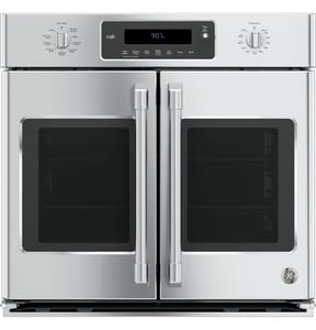 General Electric Appliances Cafe™ Series 29-3/4 in. 5.0 cf Built-In Electric Single Oven with French Door in Stainless Steel GCT9070SHSS