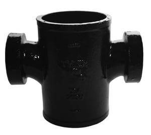 Tyler Pipe No-Hub Cast Iron Sanitary Tap Cross TNHTAPSCR