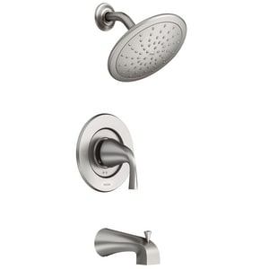Moen Oxby™ Tub and Shower Faucet in Spot Resist Brushed Nickel M82660SRN
