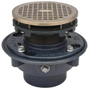 Zurn 6-13/16 in. Cast Iron No-Hub Floor Drain with Strainer ZZN415NH6BZ