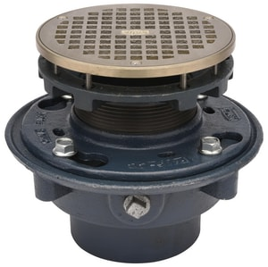 Zurn Industries 6-13/16 in. Cast Iron No-Hub Floor Drain with Strainer ZZN415NH6BZ