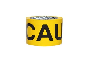 Presco 3 in. 4 Mil Caution Barrier Tape in Yellow PB334Y16737