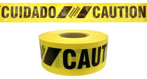 Presco 500 ft. 7 Mil Caution Barrier Tape in Yellow PBR35XY16737