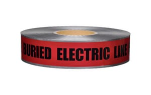 Presco 1000 ft. 5 Mil Underground Detectable Electric Tape in Red PD105R6737