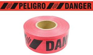 Presco 3 in. x 500 ft. 7 Mil Danger Barrier Tape in Red PBR35XR21737