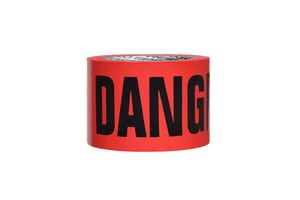 Presco 2 in. x 150 ft. 4 Mil Danger Barrier Tape in Red PB2154R21737