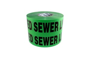 Presco 1000 ft. Non-Detectable Sewer Tape in Green PND104G4737