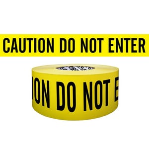 Presco 3 in. x 1000 ft. Caution Do Not Enter Barrier Tape in Yellow PB3104Y9737