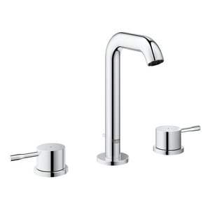 Grohe Essence New 1.5 gpm 3-Hole Deckmount Widespread Bathroom Faucet with Drain Assembly and Double Lever Handle G20297