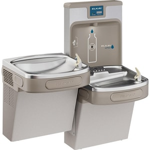 Elkay EzH2O® Wall Mount Bottle Filling Station with Bi-Level Cooler ELZSTL8WSP