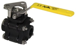Apollo Conbraco 83B-100 Series 600# NPT Carbon Steel Full Port Ball Valve with Lever Handle A83B1477
