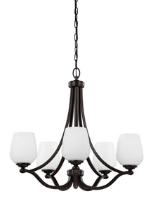Murray Feiss Industries 23-7/8 in. 75W 5-Light Medium E-26 Chandelier MF29605