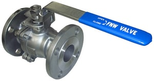 FNW 150# Flanged Stainless Steel Full Port Ball Valve FNW660A