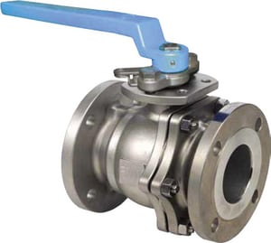 FNW Stainless Steel Flanged 2-Piece Full Port Ball Valve with Locking Lever Handle FNW600A