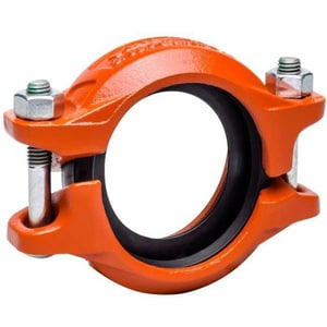 Victaulic QuickVic® Style 107N Grooved Ductile Iron Coupling with Enamel Gasket VL107GEN