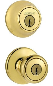 Kwikset Tylo® Metal Knob with Single Cylinder Deadbolt Combo Pack K690TSMT6ALRCS