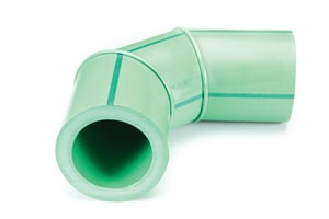 Aquatherm Butt Weld SDR 7.4 Plastic 90 Degree Elbow in Green A73121