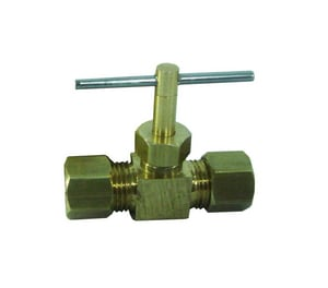 PROFLO® 1/4 in. Brass Compression Straight Needle Valve PFXNV105A
