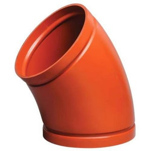 Victaulic Grooved Cast Iron Concentric Orange Paint Enamel Reducer VWH50PF0