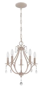 Craftmade International 18-1/2 in. 5-Light Candelabra E-12 Base Mini Chandelier C1015C
