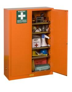 Justrite Manufacturing Manual Close Safety Cabinet in Orange J860001 at Pollardwater