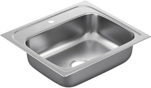 Moen 2000 Series Drop-In 1-Bowl Kitchen Sink in Stainless Steel MG201961