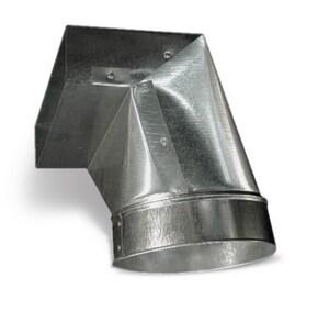 Lukjan Metal Products 30 ga 90° Elbow Register Boot with Damper SHMRB9D12U
