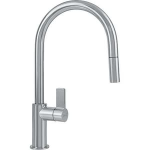 Franke Consumer Products Ambient 1.75 gpm Pull-Out Kitchen Faucet with Single Lever Handle in Satin Nickel FFFP3180