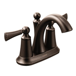 Moen Wynford 1 2 Gpm 3 Hole Centerset High Arc Bathroom Faucet With Double Lever Handle In Oil