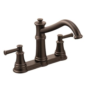 Moen Belfield™ 1.5 gpm Kitchen Faucet with Spray and Double Lever Handle M7250