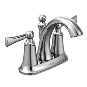 Moen Wynford™ 1.2 gpm 3-Hole Centerset High Arc Bathroom Faucet with Double Lever Handle M4505