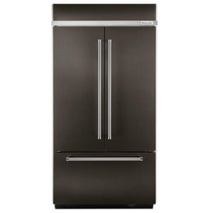 Kitchenaid 17.75 cf Built-In French Door Refrigerator with Platinum Interior Design KKBFN502E