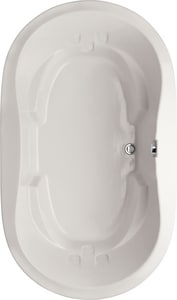 Hydro Systems Savannah 66 x 44 in. 80 gal Acrylic and Reinforced Fiberglass Oval Drop-In Bathtub with Front Drain HFWSAV6644ATO