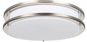 Luminance American De Rosa Lamparts 2-Light Ceiling Light Fixture in Bright Satin Nickel LSF988580
