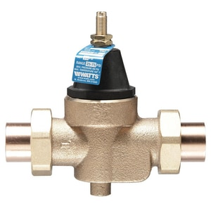Watts Double Union x Socket Union Copper Alloy Water Pressure Reducing Valve WLFN45BM1DUS