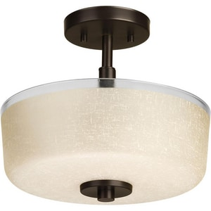 Progress Lighting Alexa 100W 2-Light Medium Incandescent Semi-Flush Ceiling Light PP2851