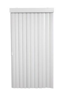 Lotus & Windoware 78 x 80-1/2 in. 3-1/2 in. PVC Vertical Blind in White LVS78805SCWH