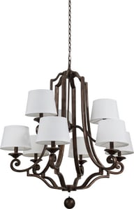 Park Harbor® Haven 60W 39 in. 9-Light Candelabra E-12 Chandlier PHHL6269