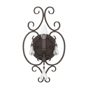 Park Harbor® Jefferson Commons 60W 15-1/2 in. 1-Light Candelabra E-12 Wall Sconce PHWL3111