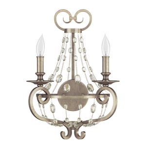 Park Harbor Rosalind 60W 17-3/4 in. 2-Light Candelabra E-12 Wall Sconce PHWL3122