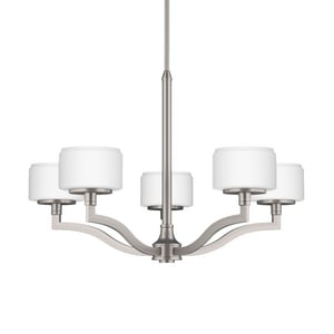 Park Harbor® Haverford 60W 20-1/8 in. 5-Light G9 Double Loop Chandlier PHHL6025