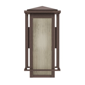 Park Harbor® Beech Lane 100W 17 in. 1-Light Medium E-26 Wall Sconce in Brownstone PHEL1703BROW
