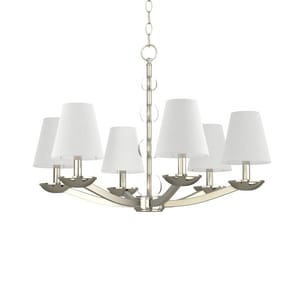 Park Harbor® Bankloft 60W 20-3/8 in. 6-Light Candelabra E-12 Chandlier in Polished Nickel PHHL6006PN