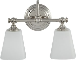 Park Harbor Matina 10 1 2 X 14 In 100w 2 Light Medium E 26 Vanity Fixture In Polished Nickel