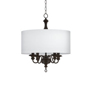 Park Harbor® Cardiff 60W 4-Light Candelabra E-12 Pendant in Painted Bronze PHPL5624PBR