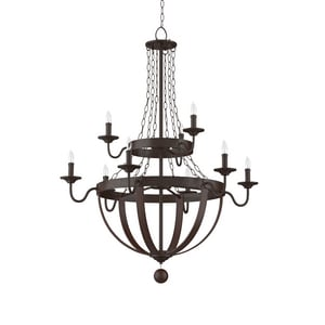 Park Harbor Sandrift 60W 41-7/8 in. 9-Light Candelabra E-12 Chandlier PHHL6279