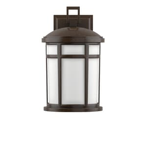 Park Harbor® Turnberry 100W 13-1/4 in. 1-Light Medium E-26 Wall Sconce in Speckled Bronze PHEL2301SPBR