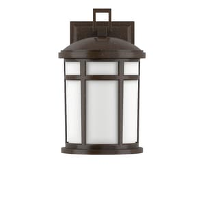 Park Harbor® Turnberry 60W 10 in. 1-Light Medium E-26 Wall Sconce in Speckled Bronze PHEL2300SPBR